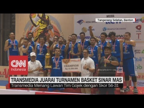 Transmedia Juara Turnamen Basket Sinar Mas Land 2018