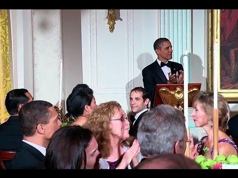 President Obama Toasts President  Lee Myung-Bak of the Republic of Korea
