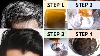 4 Remedies to turn white hair to black permanently. Apply once to see Results instantly.