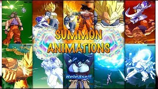 ALL RARE & SUPER RARE SUMMONING ANIMATIONS IN DRAGON BALL LEGENDS