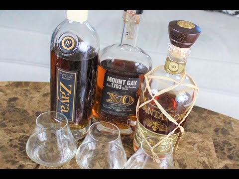 Rum Tasting: Zaya 12, Mount Gay XO, Plantation 20