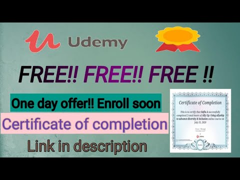 Udemy free courses with certification||One day offer enroll it||free ...
