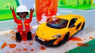 Мультики про машинки. Новая цветная машинка в мультике – Желейный вулкан. Мультфильмы для детей