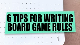 6 Tips on Writing Board Game Rules - Board Game Design Time