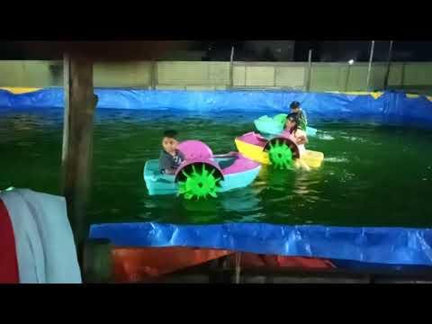 Bapatla exhibition children dashing cars in 🌊 water..