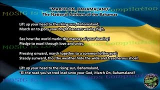 Bahamas National Anthem MARCH ON, BAHAMALAND with music, vocal and lyrics English