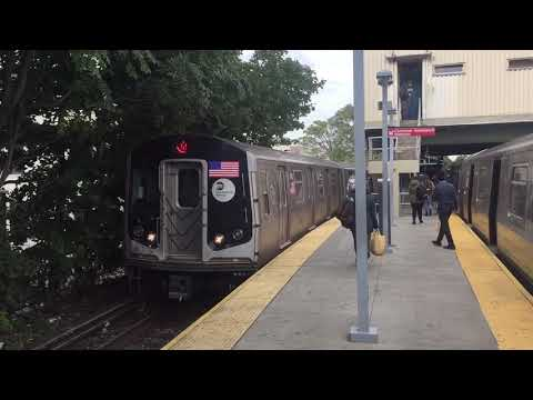 NYC BMT Brighton Subway Line: Manhattan & Brooklyn bound R160 & R68