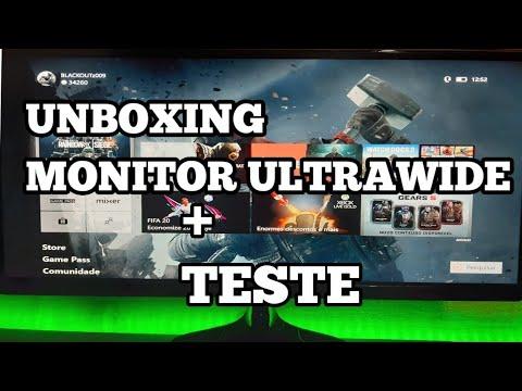 UNBOXING MONITOR LG ULTRAWIDE + TESTE EM JOGOS|XBOX ONE