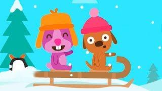 САГО МИНИ МАЛЫШИ снежный день Мультики для детей про малышей Игры для самых маленьких SAGO MINI
