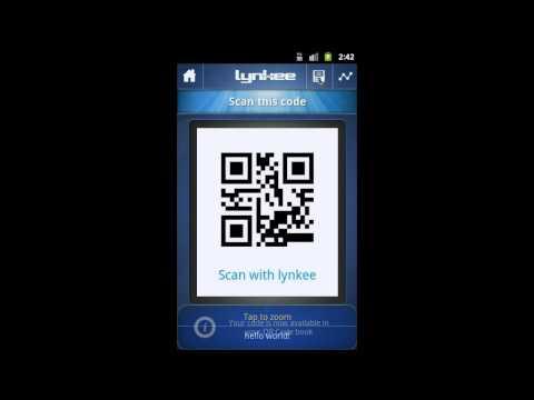 Video of LYNKEE QR code barcode scanner