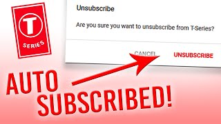 AUTO-SUBSCRIBED TO T-SERIES IN INDIA? Is It True? (answered)