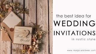 The Best Idea For Rustic Wedding - Eco Wedding Invitations