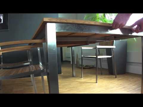 Holz-Haus - Diamond Garden Teakholz-Gartentisch Roma