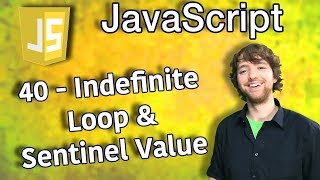 JavaScript Programming Tutorial 40 - Fill Array from User Input Indefinite Loop and Sentinel Value