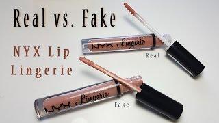Real Vs Fake NYX Lingerie Lipstick