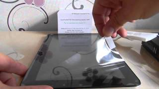 Displayfolie aufs Tablet Blasenfrei bringen