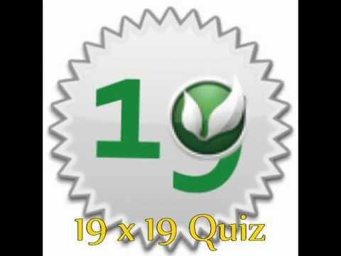 Video of 19 x 19 Quiz