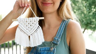 The Easiest Macrame Wall Hanging You Can Make | Mini Macrame Tutorial For COMPLETE Beginners!