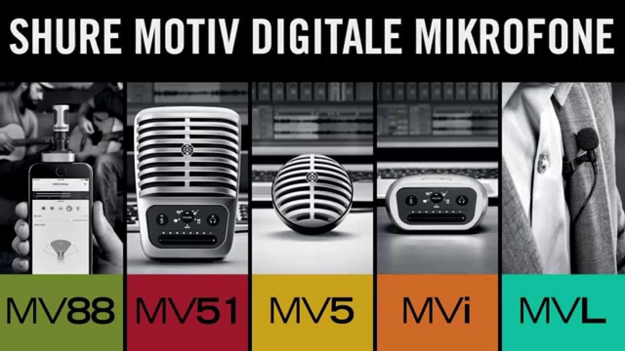 MOTIV Digitale Mikrofone