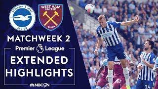 Brighton v. West Ham   PREMIER LEAGUE HIGHLIGHTS   8/17/19   NBC Sports