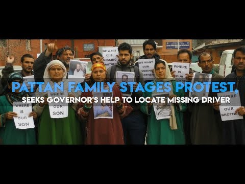 Pattan family stages protest, seeks governor's help to locate missing driver