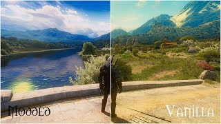 witcher 3 vanilla vs extreme modded  Ultra graphic Apex Reshade Phoenix lighting 7