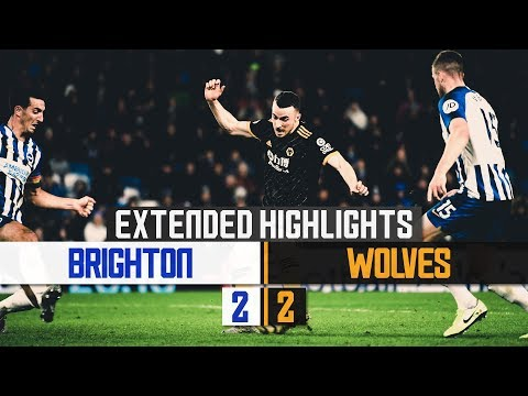 Diogo Jota back on the scoresheet | Brighton & Hove Albion 2-2 Wolves | Extended Highlights