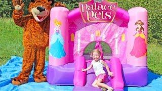 Замок Принцессы Диснея - КЛАССНЫЙ БАТУТ для девочек / Disney Princess Castle