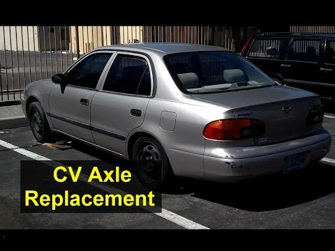 CV axle replacement on a Chevrolet Geo Prizm, Toyota Corolla - Auto Repair Series