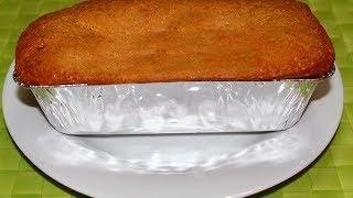 How To Bake Banana Cake Recipe - English