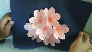 Pop up Flower card Tutorial - Handmade