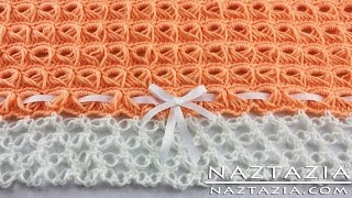 DIY Learn How To Crochet - Broomstick Lace Blanket Afghan Throw With Solomons Knot (Baby Blanket)
