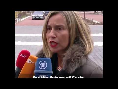 Federica Mogherini on Syria at Sofia before Gymnich