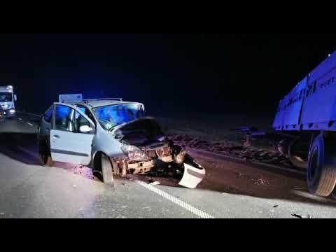 Wideo1: Wypadek na trasie Mochy - Kaszczor