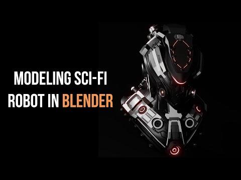 blender 3d modeling timelapse Sci-Fi Robot | Blender 2.9