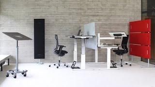 Стол с регулируемой высотой Ergon chrom от OfficePlus от компании ErgoLife - видео