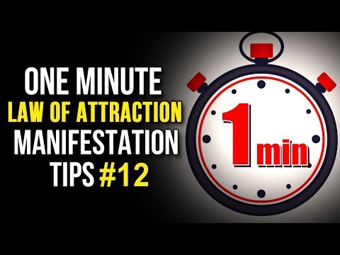 Law Of Attraction One Minute Manifestation Tips - 12 (The Secret) Your Youniverse Series