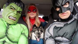 Superheroes Surprise Kakoa With Dancing Car Ride!