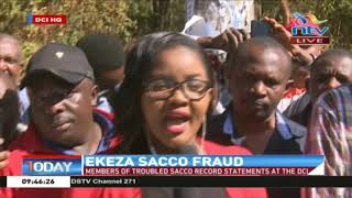 Members of troubled Ekeza Sacco record statements at the DCI