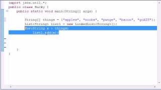 Intermediate Java Tutorial - 6 - LinkedList
