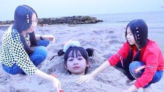 วันสนุกของ น้องวีว่า  Wiwa super fun day on the Beach!  | น้องวีว่า พี่วาวาว Wow Sister Toy