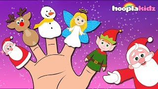 Christmas Finger Family Song By HooplaKidz | Christmas Songs for Kids