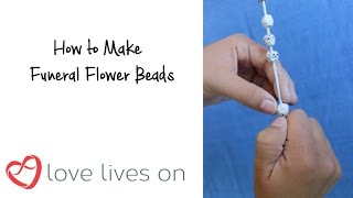 How to Make Funeral Flowers Beads