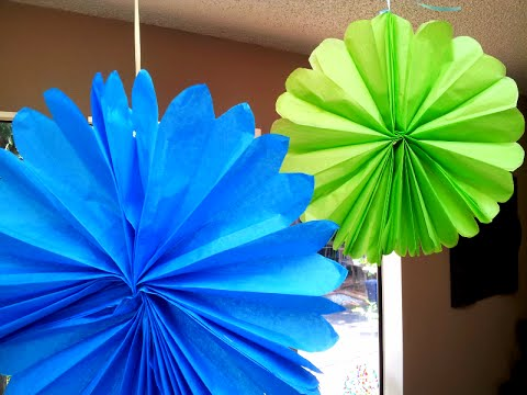 How to make tissue paper fans mightylinksfo