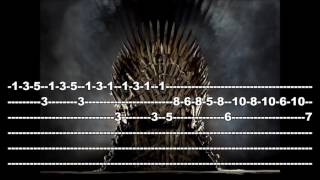The Game Of Thrones - Guitar Tab