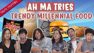 Ah Ma Tries Trendy Millennial Snacks | Taste Testers | EP 112