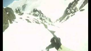 Bombing down the Aussie Couloir