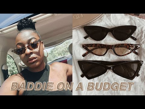 BADDIE ON A BUDGET | ALIEXPRESS ACCESSORIES TRY-ON HAUL | DUPE DESIGNER SUNGLASSES | PART 1