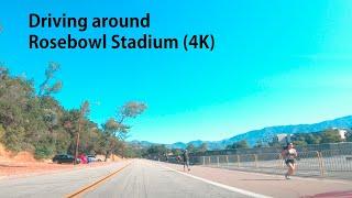 Driving around Rosebowl Stadium (4K)
