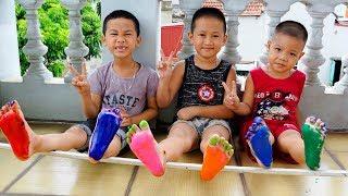 Trò Chơi Bàn Chân Màu Sắc - Bé Nhím TV - Đồ Chơi Trẻ Em Thiếu Nhi